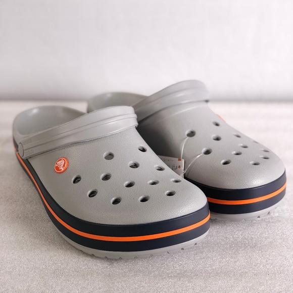 Crocband Relaxed Fit Clogs Grey Navy
